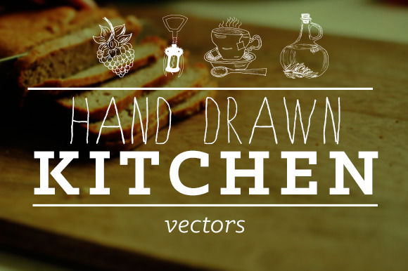 Hand Drawn Kitchen Illustrations