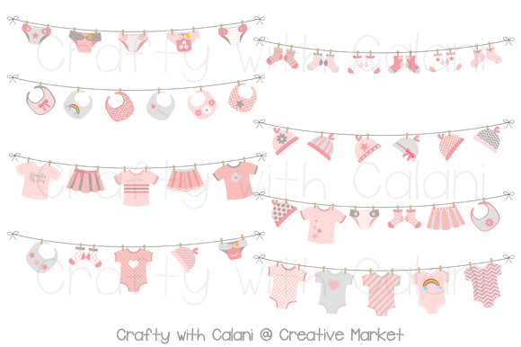 Pink Baby Laundry Bunting