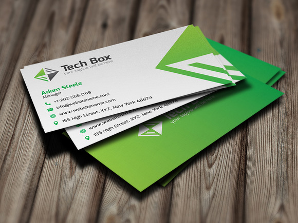 Tech Box Logo And Business Card