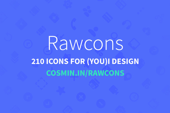 Rawcons-210 Icons For I Design