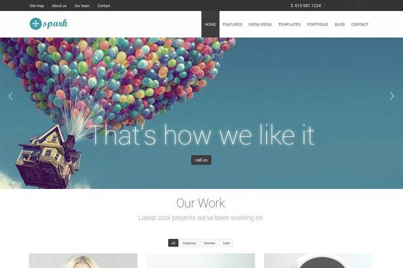 Spark Multipurpose Bootstrap Theme