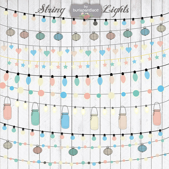 String Lights Clipart Color