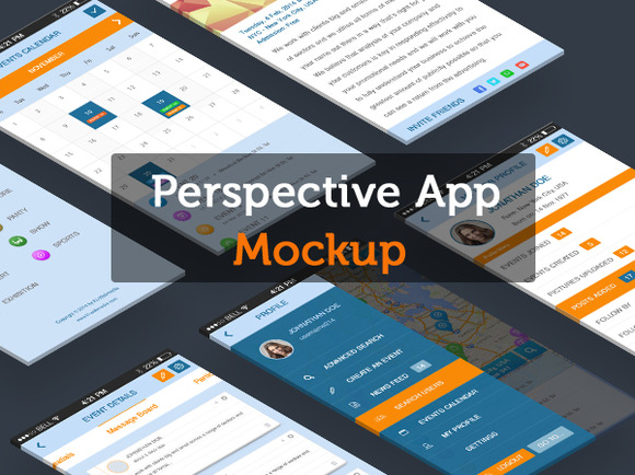 Perspective App Mockup
