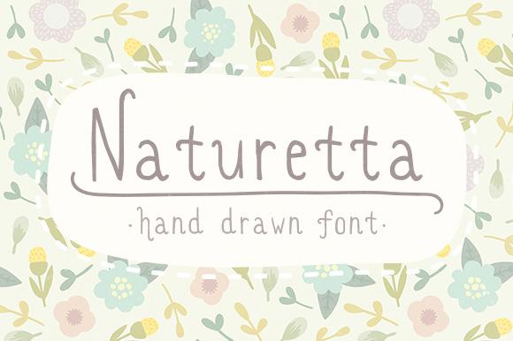 Naturetta Cute Hand Drawn Font