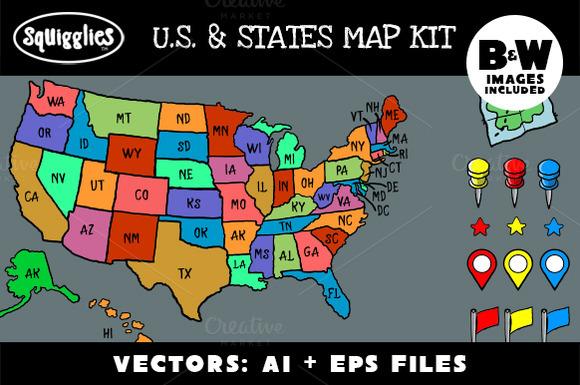 U.S States Map Kit