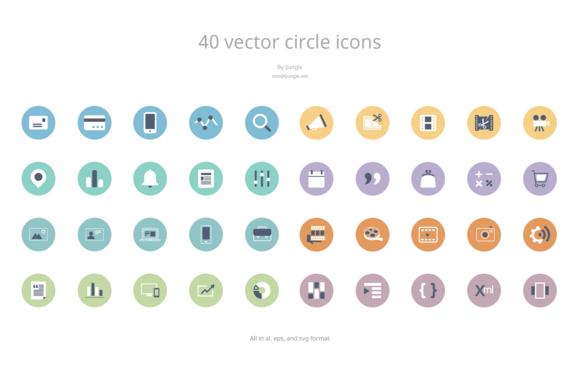 Vector Circle Icons