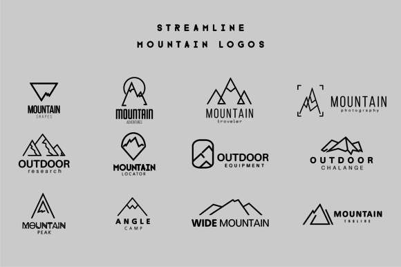 Streamline Mountain Logos Ai