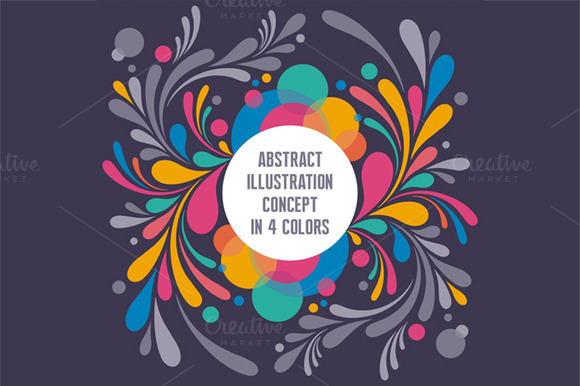 Abstract Illustration Text Frame