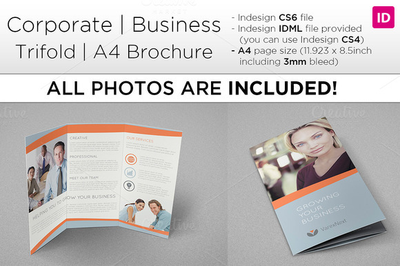 Corporate A4 Trifold Brochure