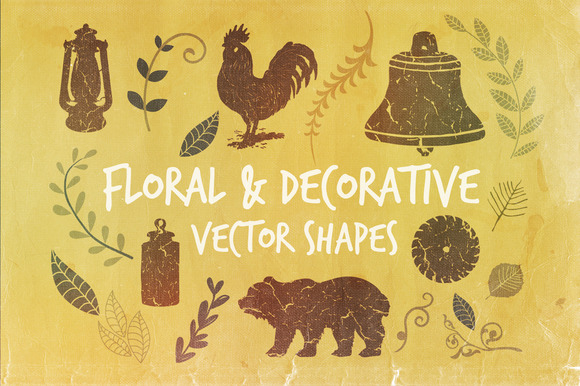 Floral Decorative Vector Shapes
