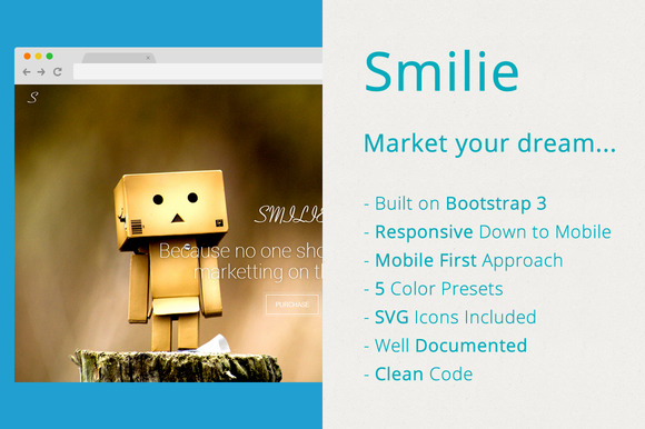 Smilie App Landing Page