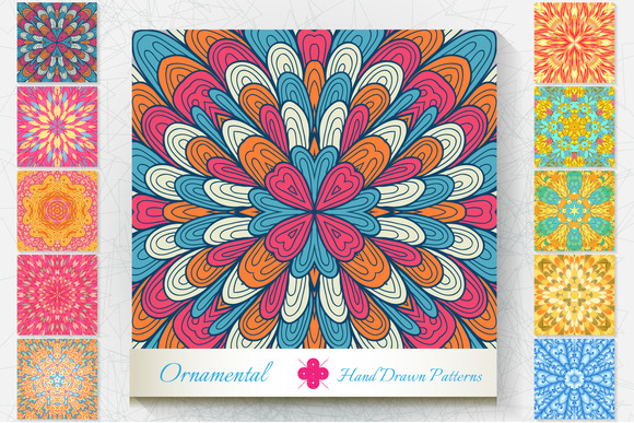 10 Ornamental Patterns Set#3