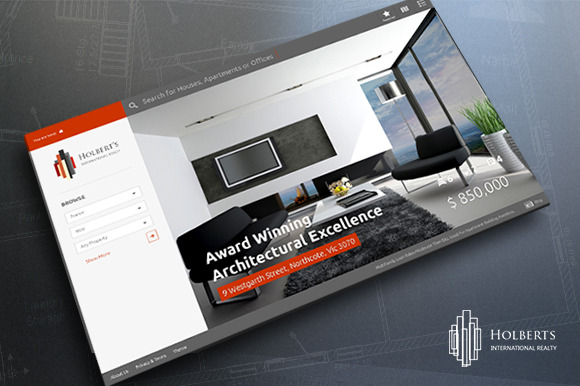 Holbert S Real Estate Concept PSD