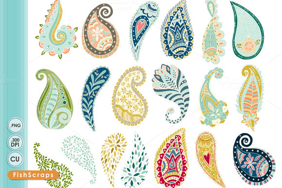 Paisley ClipArt Fanciful Notions