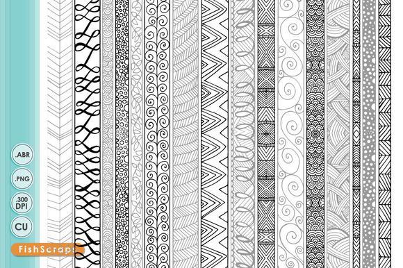 Border Clip Art Zentangle