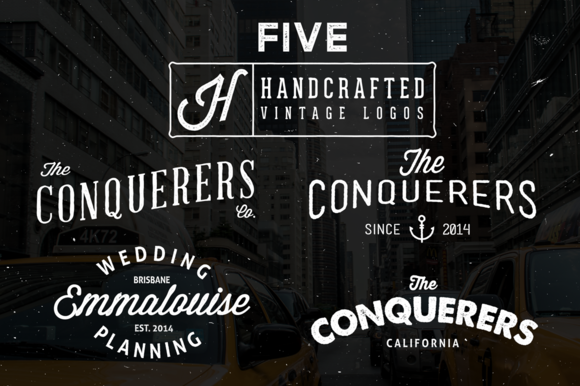 Hand Crafted Vintage Logos 50% OFF