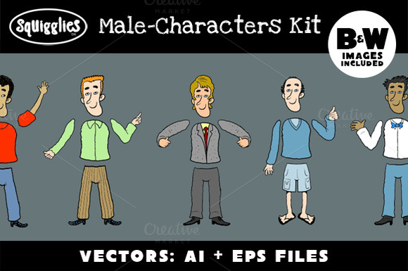 Male-Character Construction Kit