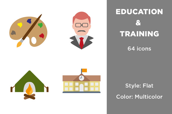 Education Training Flat