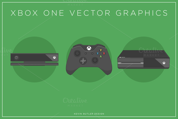 Xbox One Template Vector » Designtube - Creative Design ... Xbox One Vector