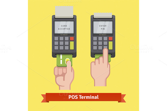 Inserting Credit Card To A Terminal