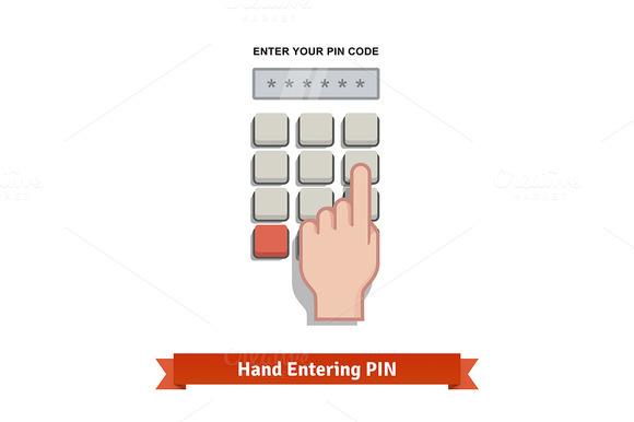 Hand Entering PIN