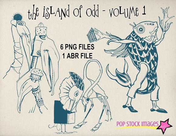 The Island Of Odd PNG And ABR Set