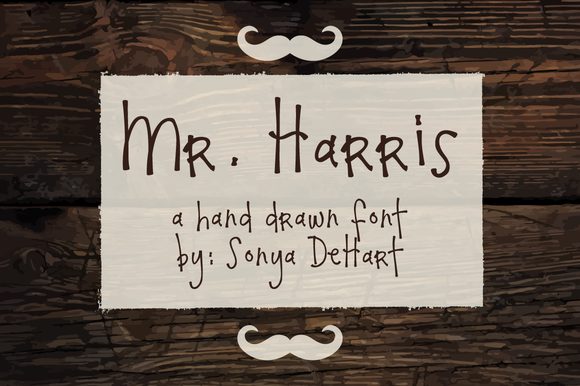 Mr Harris A Hand Drawn Font
