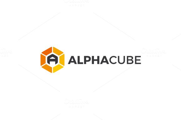 Alpha Cube Letter A Logo