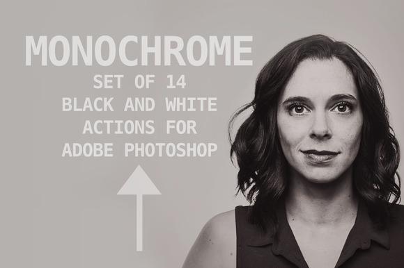 Monochrome Set Of Photoshop Actions