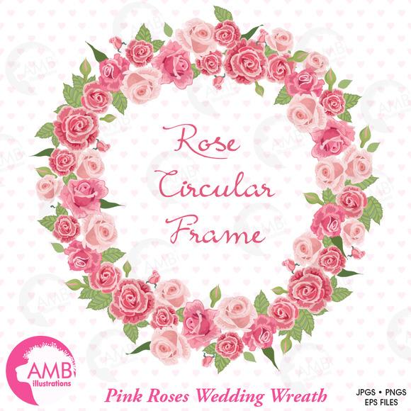Clipart Roses Bridal Wreath AMB-955