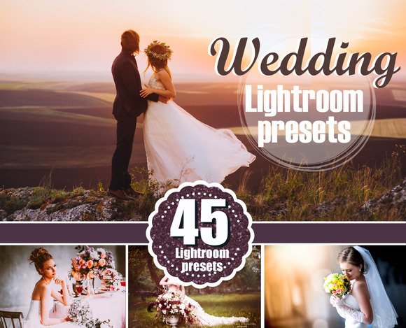 45 Bride Wedding Lightroom Presets