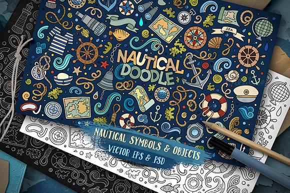 Nautical Objects Symbols Set