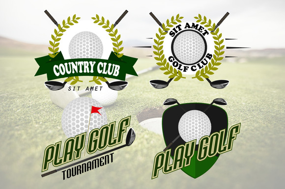 Professional Logo Of Golf Club