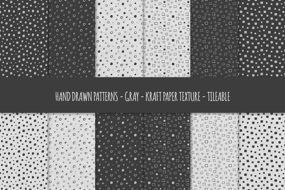 Gray Kraft Paper Seamless Patterns