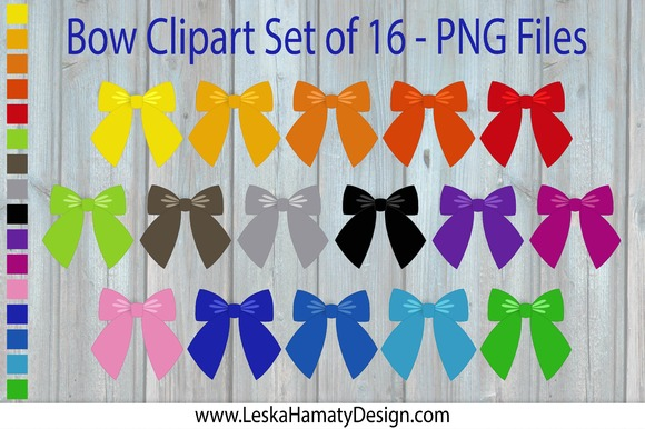 Bow Clipart Scrapbook Embellishment