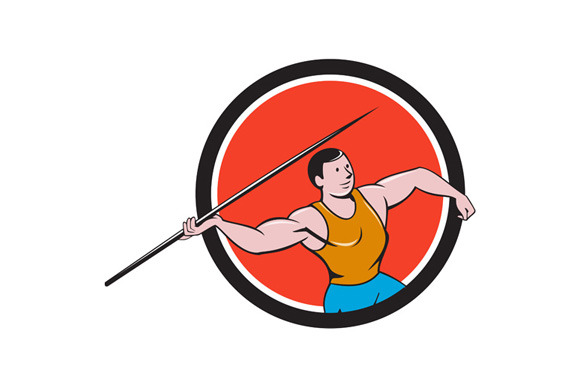 Javelin Throw Track And Field Circle