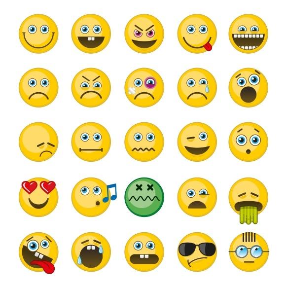 Emoji Emoticons Vector Icons