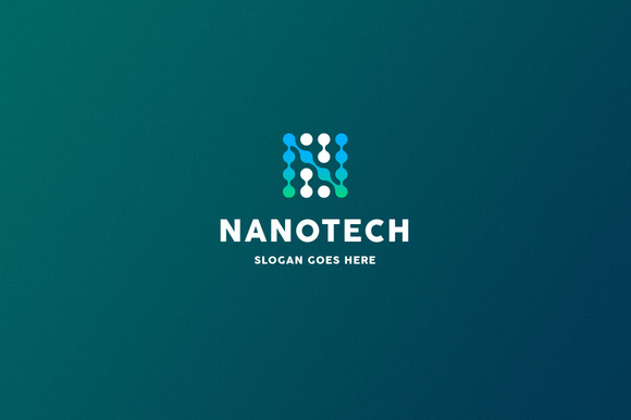 Nanotech Letter N Logo Template