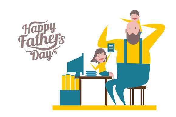 Happy Father's Day Illustration