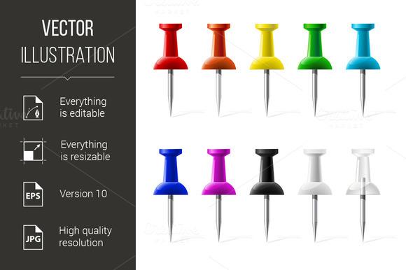 Colored Push Pins