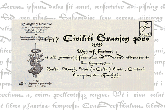 1557 Civilite Granjon PRO OTF