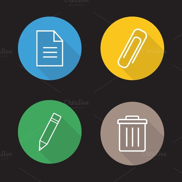 File Editor Icons Vector