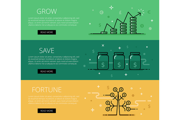 Grow Save Fortune Web Banners