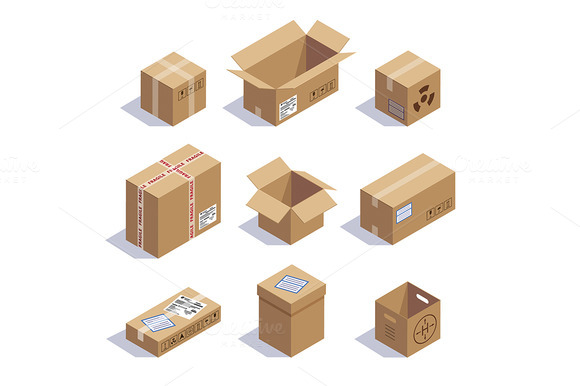 Collection Of Cardboard Boxes