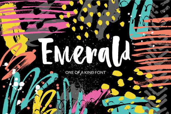 Emerald Playful Brush Font