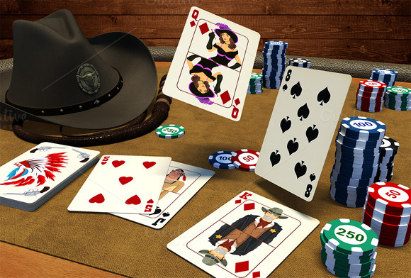 Wild West Poker Game Assets