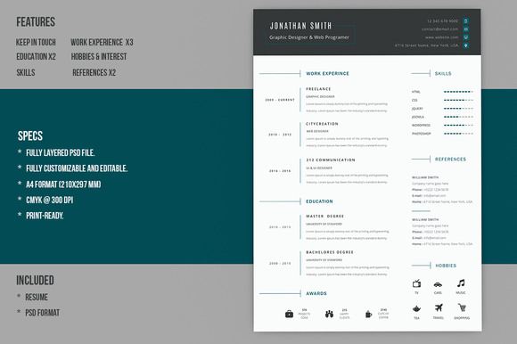 2d animation resume format
