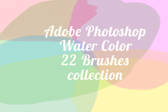 Water Color 22 Brushes For Photoshop