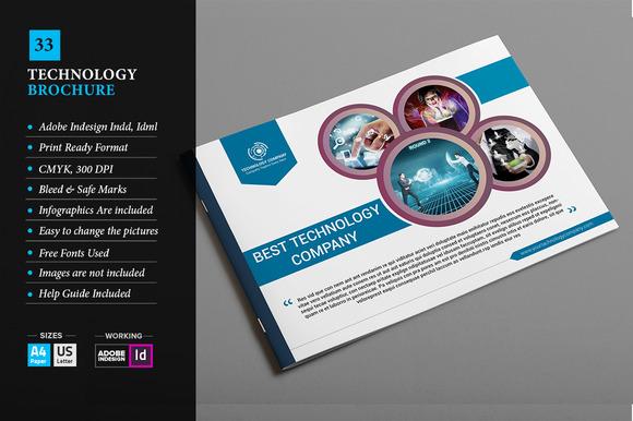 Free information technology brochure sample designtube for Technology brochure template