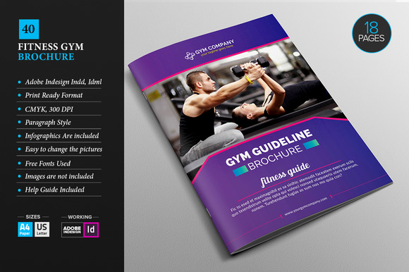 fitness brochure design - fitness brochure template designtube creative design